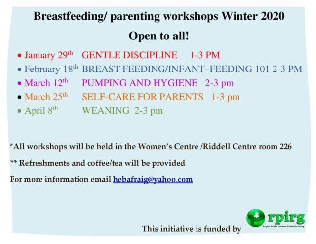 Parenting workshop poster